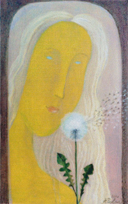 The painting -Dandelions- (2001) by Annael (Anelia Pavlova), artist