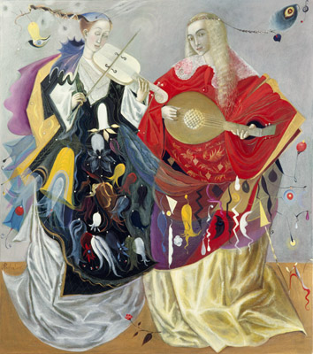 The painting -Duet- (2005) by Annael (Anelia Pavlova), artist, after the (classical) music of MaxReger