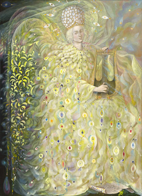 The painting -The Angel of Wisdom- (2009) by Annael (Anelia Pavlova), artist, after the (classical) music of Vivaldi
