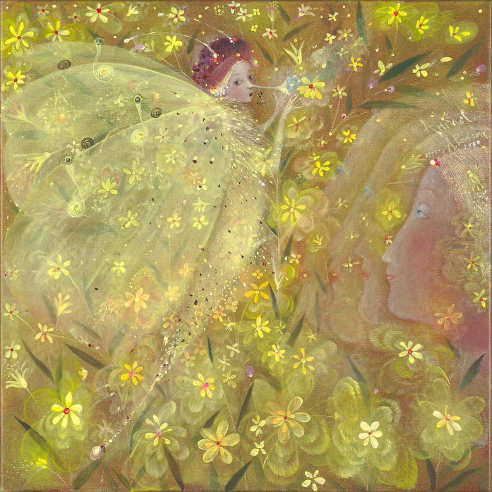 The Art Of Annael Anelia Pavlova A Dream Of Yellow Flowers Painting