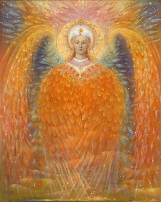 The painting -The Angel of Justice- (2010) by Annael (Anelia Pavlova), artist, after the (classical) music of Faure